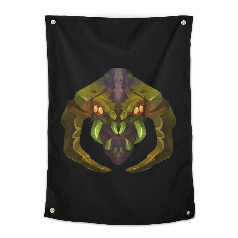 Low Poly Art - Venomancer Home Tapestry by lowpolyart's Artist Shop