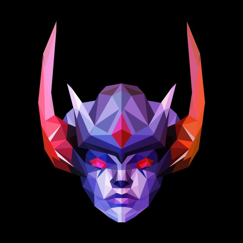 Low Poly Art - Vengeful Spirit Accessories Sticker by lowpolyart's Artist Shop