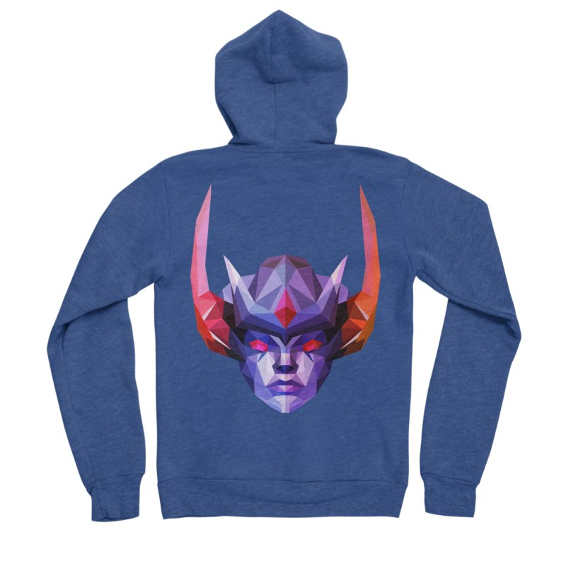 Low Poly Art - Vengeful Spirit Men's Sponge Fleece Zip-Up Hoody by lowpolyart's Artist Shop