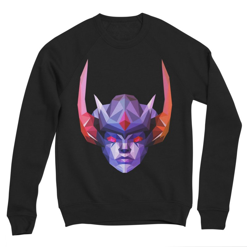 Low Poly Art - Vengeful Spirit Men's Sponge Fleece Sweatshirt by lowpolyart's Artist Shop