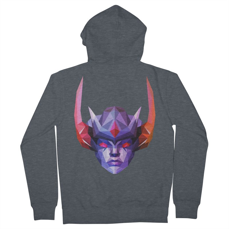 Low Poly Art - Vengeful Spirit Women's French Terry Zip-Up Hoody by lowpolyart's Artist Shop