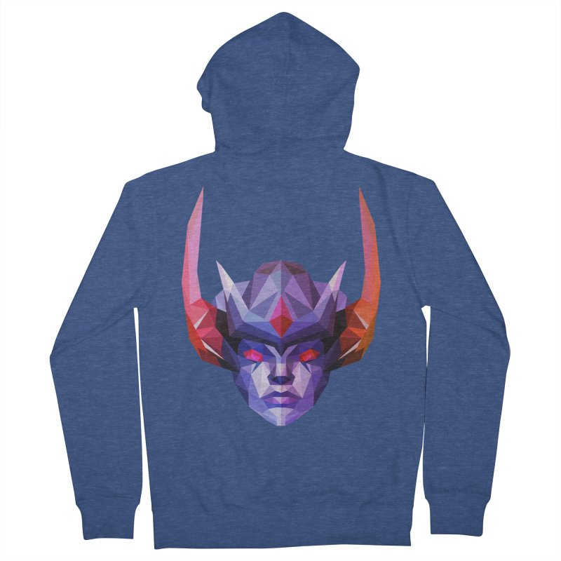 Low Poly Art - Vengeful Spirit Men's French Terry Zip-Up Hoody by lowpolyart's Artist Shop