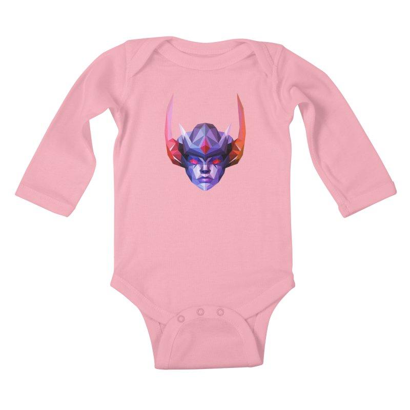 Low Poly Art - Vengeful Spirit Kids Baby Longsleeve Bodysuit by lowpolyart's Artist Shop