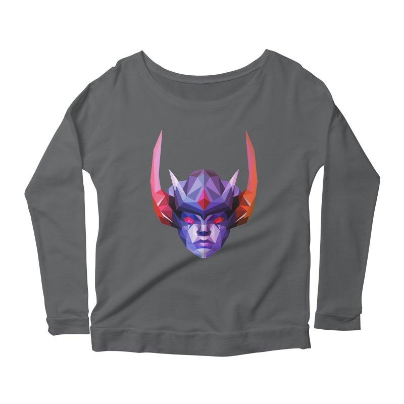Low Poly Art - Vengeful Spirit Women's Scoop Neck Longsleeve T-Shirt by lowpolyart's Artist Shop