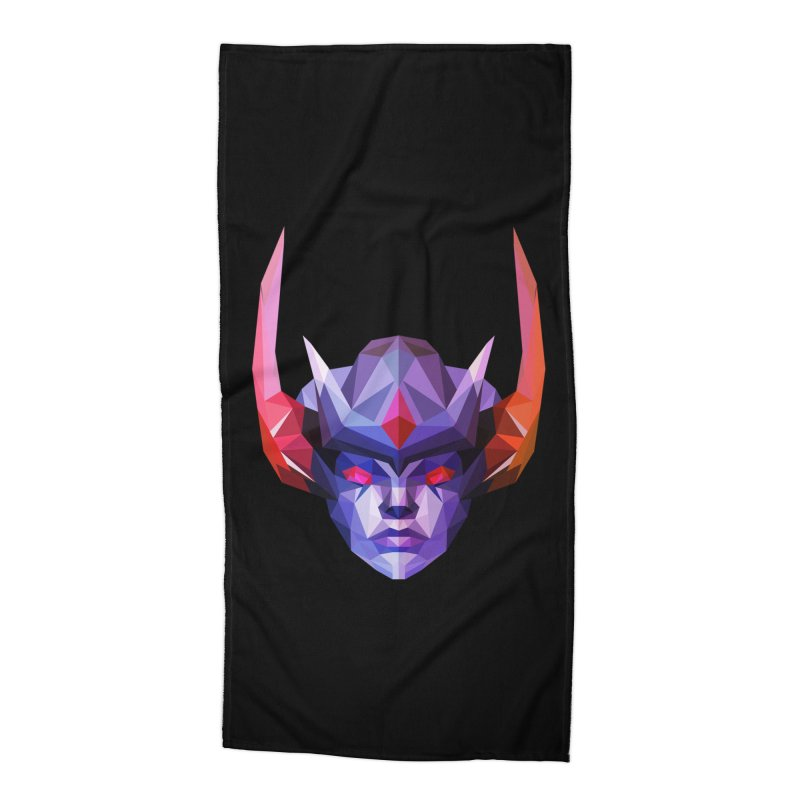 Low Poly Art - Vengeful Spirit Accessories Beach Towel by lowpolyart's Artist Shop