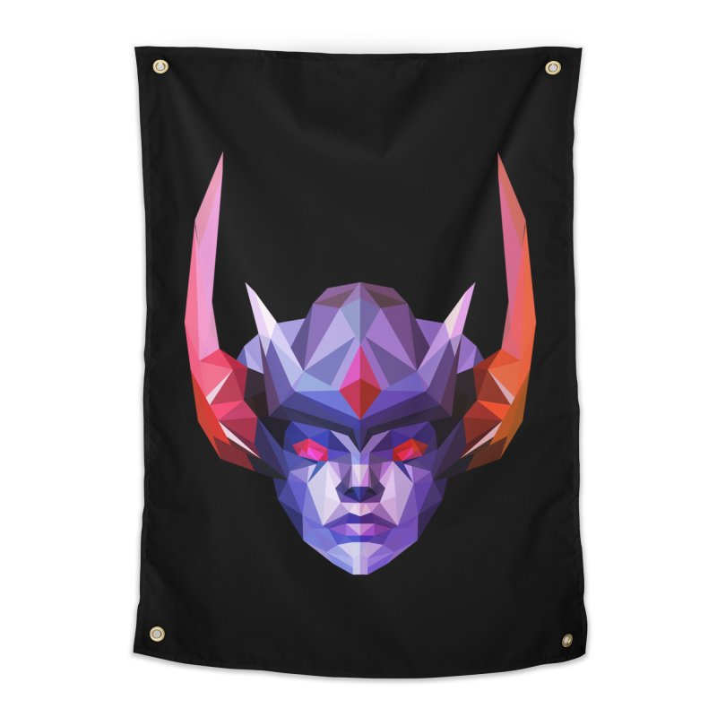 Low Poly Art - Vengeful Spirit Home Tapestry by lowpolyart's Artist Shop