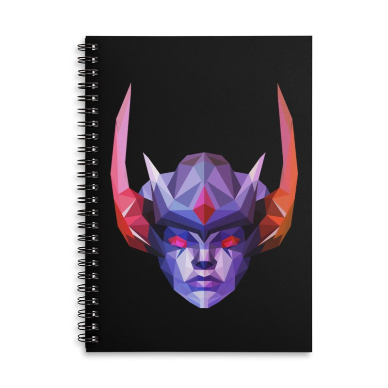 Low Poly Art - Vengeful Spirit Accessories Lined Spiral Notebook by lowpolyart's Artist Shop