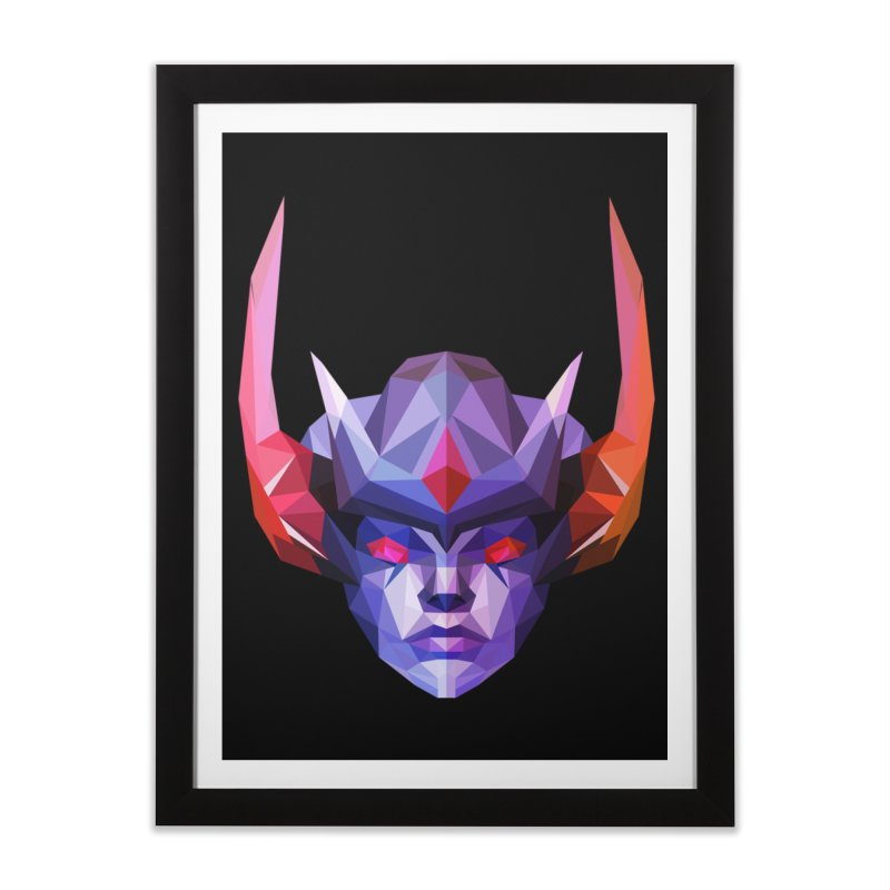 Low Poly Art - Vengeful Spirit Home Framed Fine Art Print by lowpolyart's Artist Shop