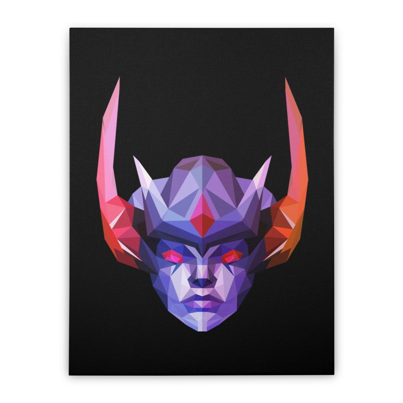 Low Poly Art - Vengeful Spirit Home Stretched Canvas by lowpolyart's Artist Shop