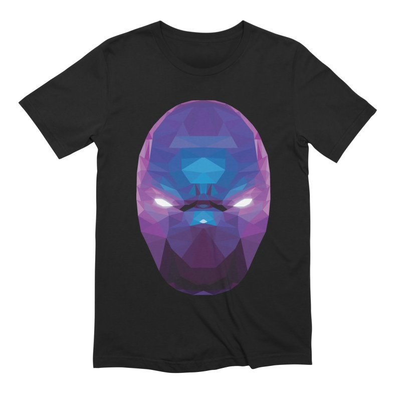 Low Poly Art - Enigma in Men's Extra Soft T-Shirt Black by lowpolyart's Artist Shop