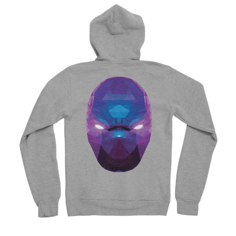Low Poly Art - Enigma Women's Sponge Fleece Zip-Up Hoody by lowpolyart's Artist Shop