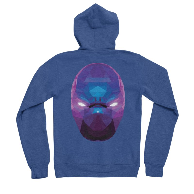 Low Poly Art - Enigma Men's Sponge Fleece Zip-Up Hoody by lowpolyart's Artist Shop