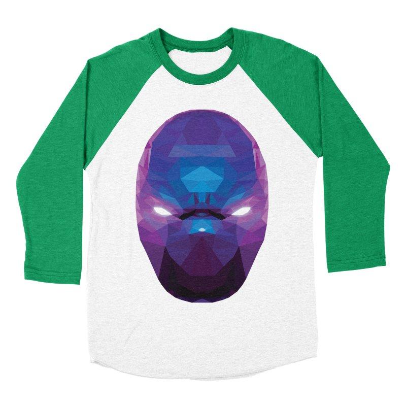 Low Poly Art - Enigma Men's Baseball Triblend Longsleeve T-Shirt by lowpolyart's Artist Shop