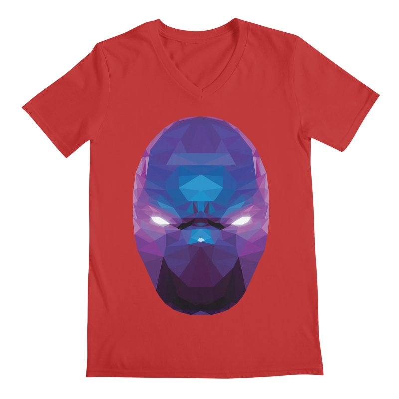 Low Poly Art - Enigma Men's Regular V-Neck by lowpolyart's Artist Shop