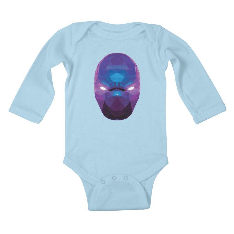 Low Poly Art - Enigma Kids Baby Longsleeve Bodysuit by lowpolyart's Artist Shop