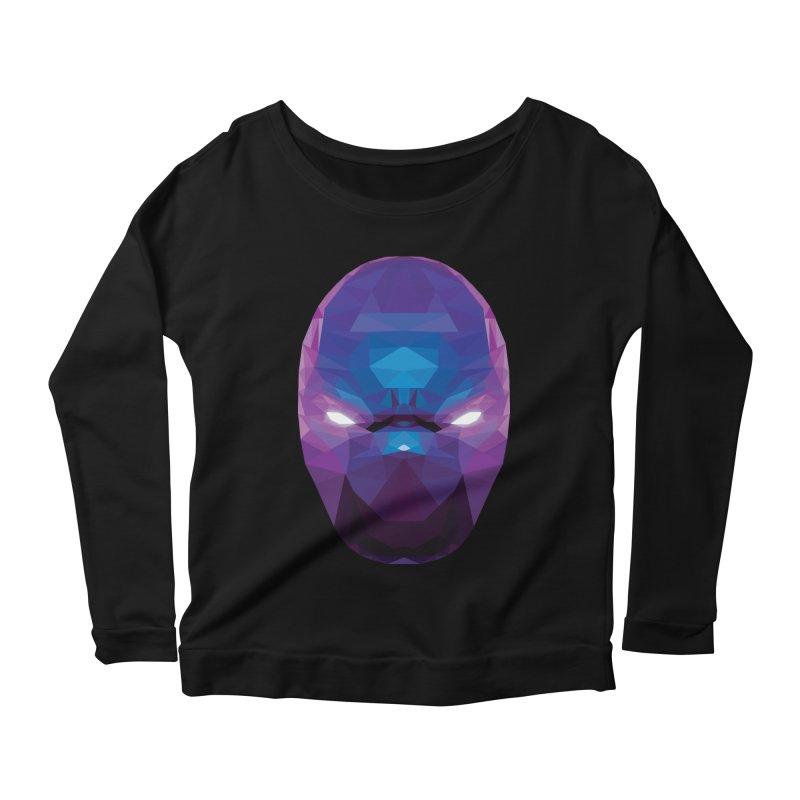 Low Poly Art - Enigma Women's Scoop Neck Longsleeve T-Shirt by lowpolyart's Artist Shop