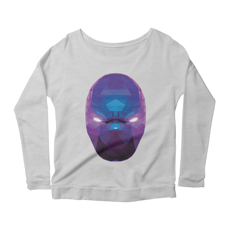 Low Poly Art - Enigma Women's Scoop Neck Longsleeve T-Shirt by lowpolyart's Artist Shop