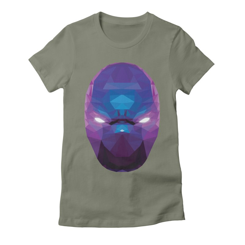 Low Poly Art - Enigma Women's Fitted T-Shirt by lowpolyart's Artist Shop
