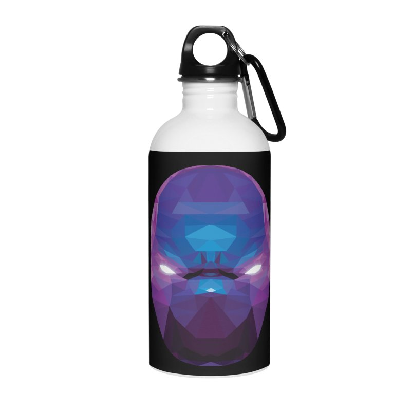 Low Poly Art - Enigma Accessories Water Bottle by lowpolyart's Artist Shop