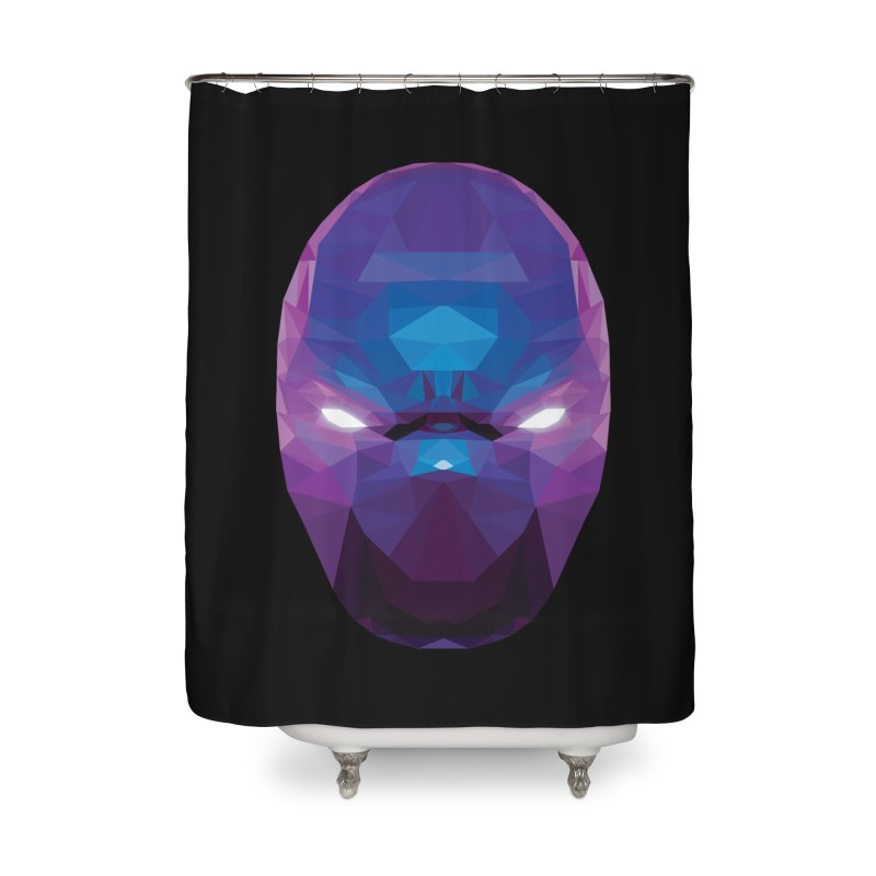 Low Poly Art - Enigma Home Shower Curtain by lowpolyart's Artist Shop