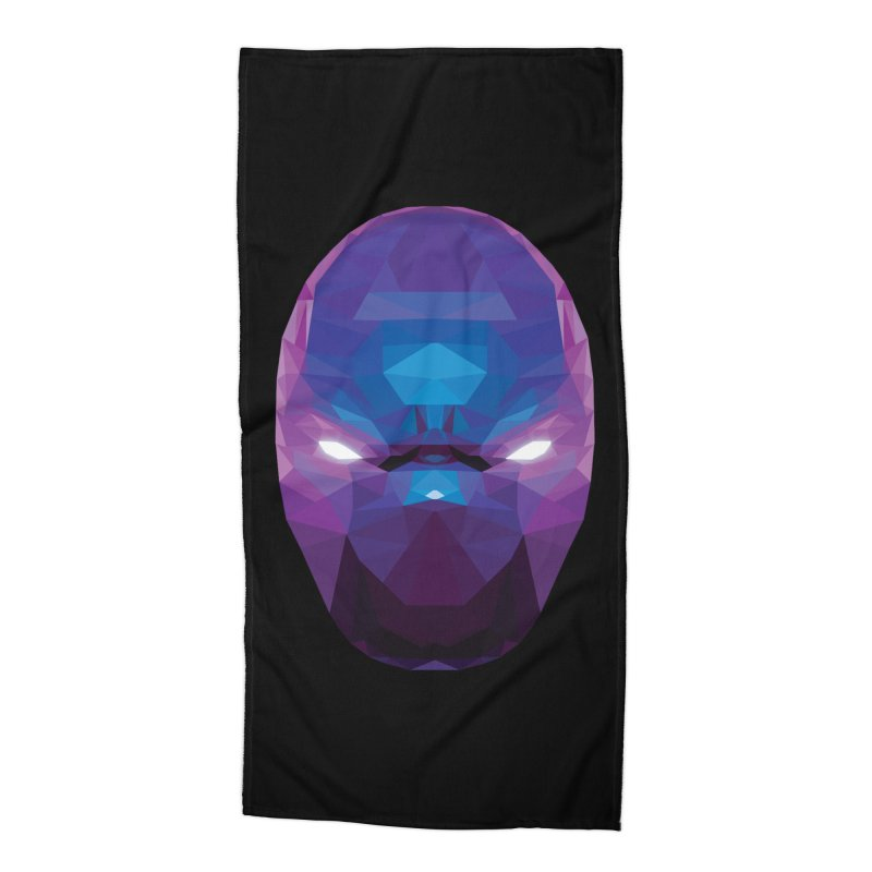 Low Poly Art - Enigma Accessories Beach Towel by lowpolyart's Artist Shop