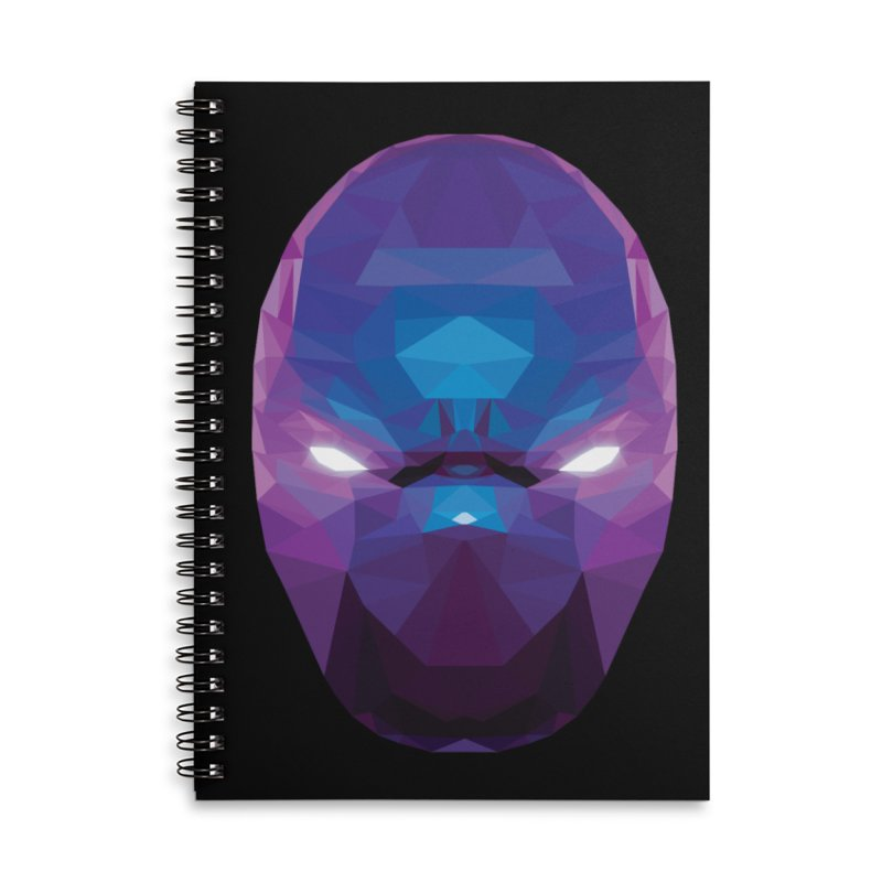 Low Poly Art - Enigma Accessories Lined Spiral Notebook by lowpolyart's Artist Shop