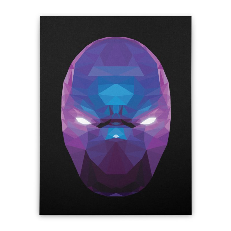 Low Poly Art - Enigma Home Stretched Canvas by lowpolyart's Artist Shop