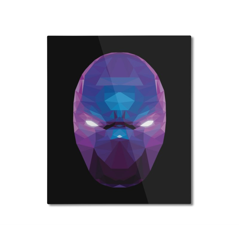 Low Poly Art - Enigma Home Mounted Aluminum Print by lowpolyart's Artist Shop