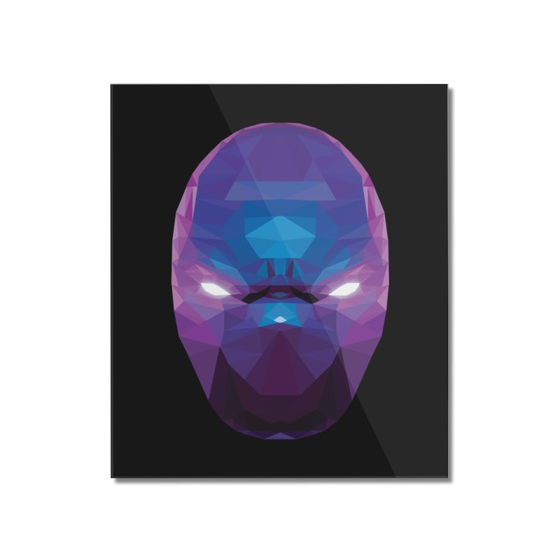 Low Poly Art - Enigma Home Mounted Acrylic Print by lowpolyart's Artist Shop