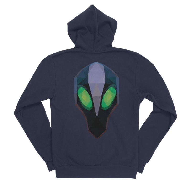Low Poly Art - Rubick Men's Sponge Fleece Zip-Up Hoody by lowpolyart's Artist Shop