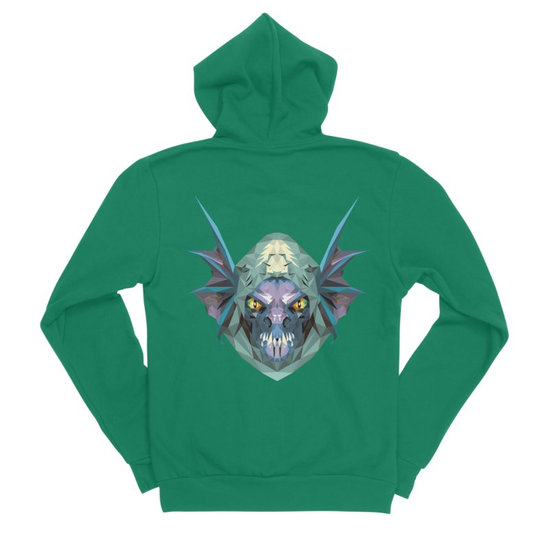 Low Poly Art - Slark Men's Zip-Up Hoody by lowpolyart's Artist Shop