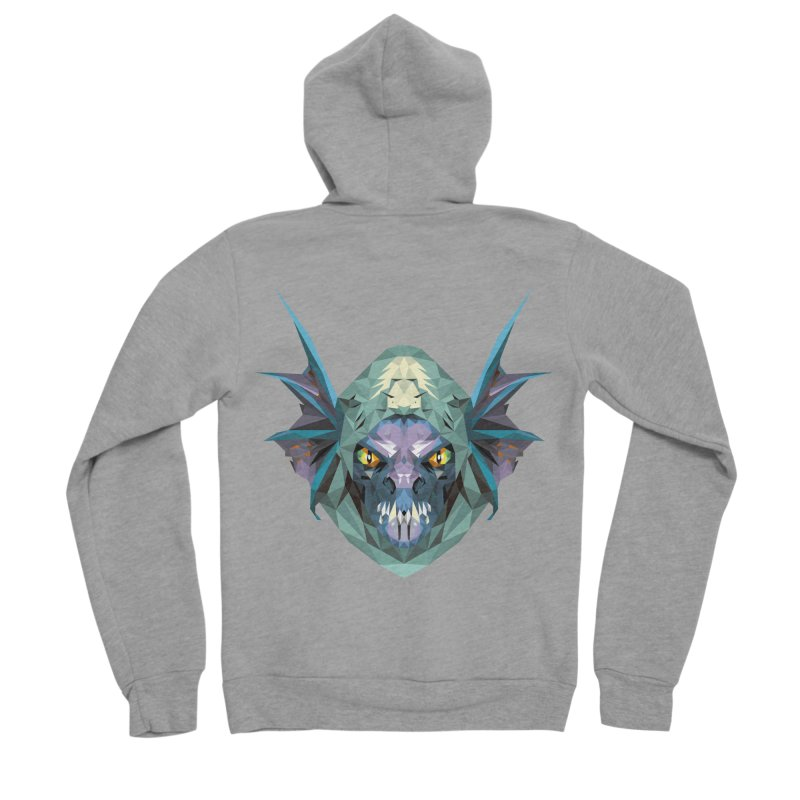 Low Poly Art - Slark Men's Sponge Fleece Zip-Up Hoody by lowpolyart's Artist Shop