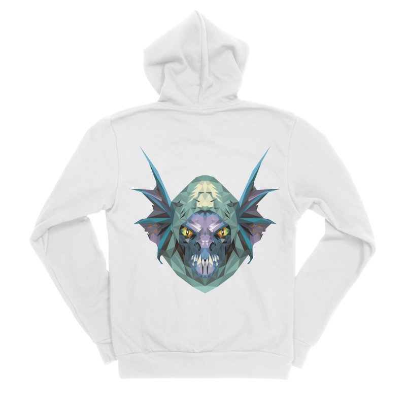 Low Poly Art - Slark Women's Sponge Fleece Zip-Up Hoody by lowpolyart's Artist Shop