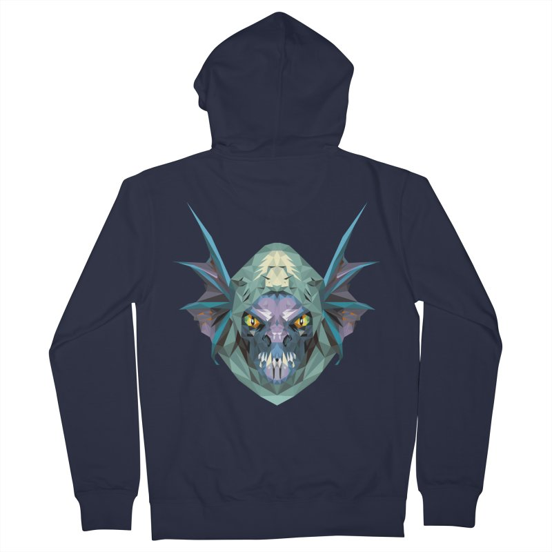 Low Poly Art - Slark Men's French Terry Zip-Up Hoody by lowpolyart's Artist Shop