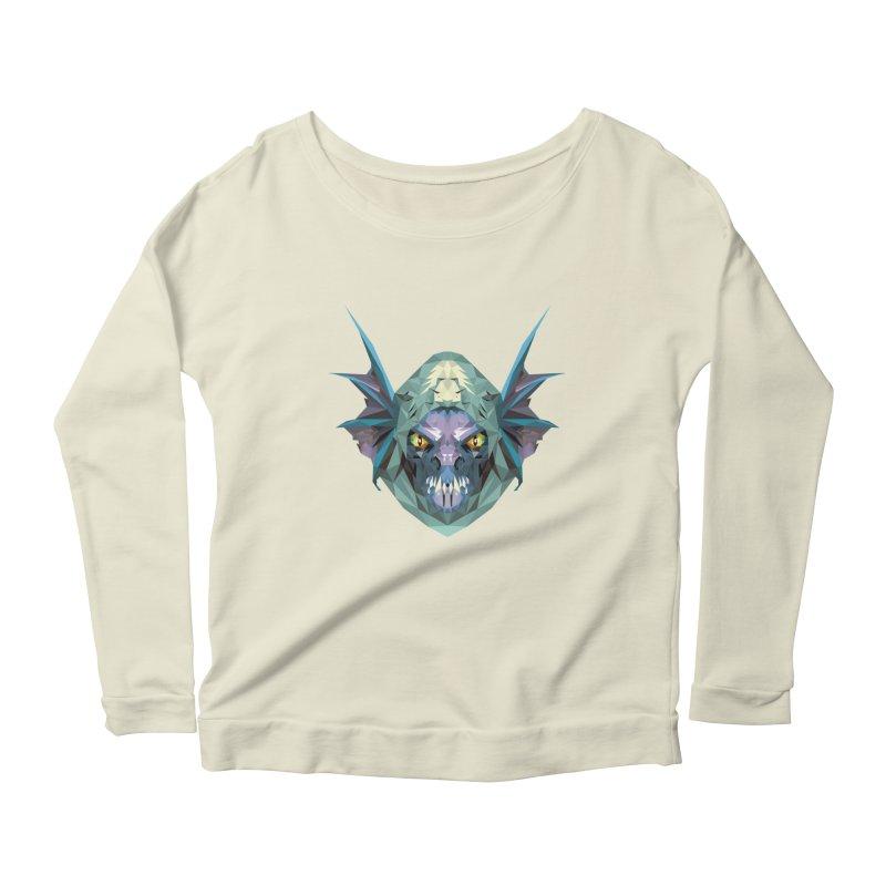 Low Poly Art - Slark Women's Scoop Neck Longsleeve T-Shirt by lowpolyart's Artist Shop