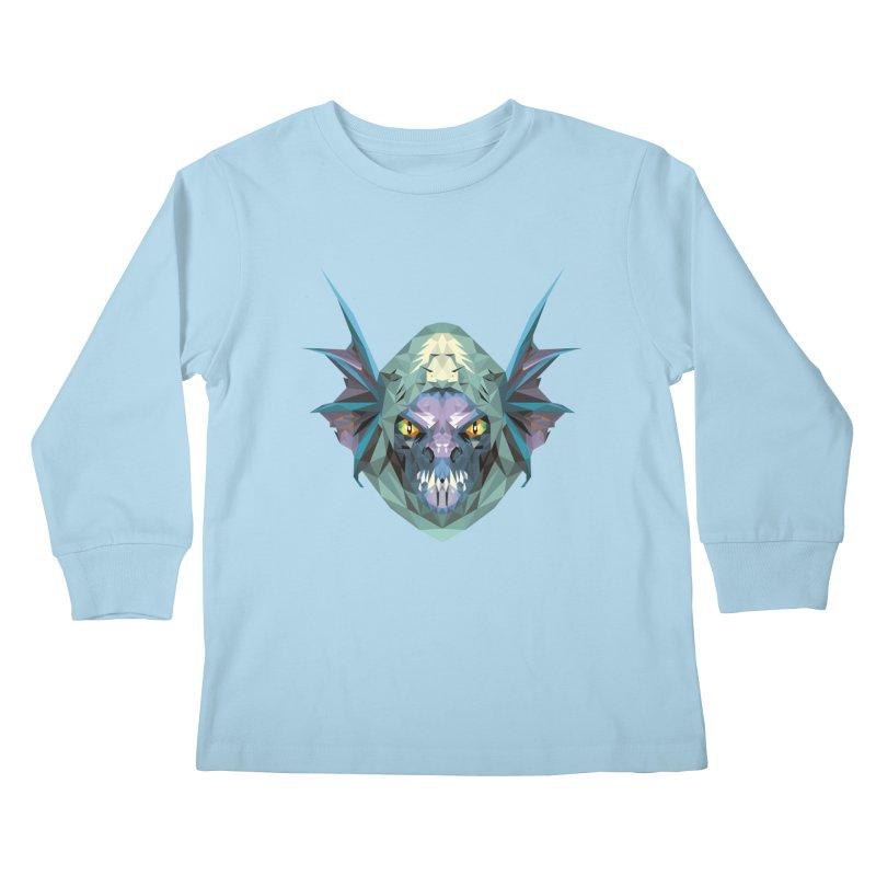 Low Poly Art - Slark Kids Longsleeve T-Shirt by lowpolyart's Artist Shop