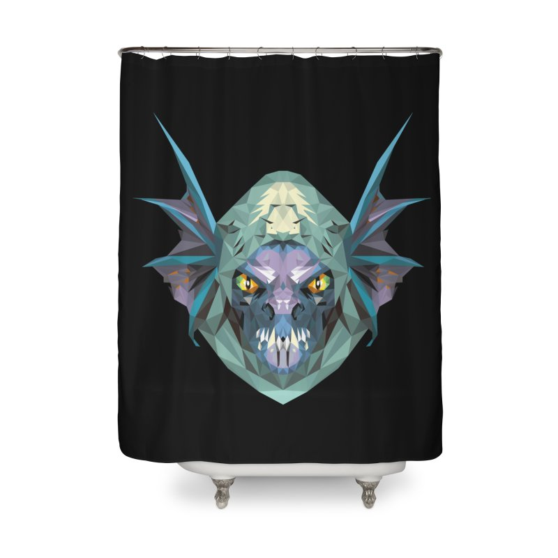 Low Poly Art - Slark Home Shower Curtain by lowpolyart's Artist Shop
