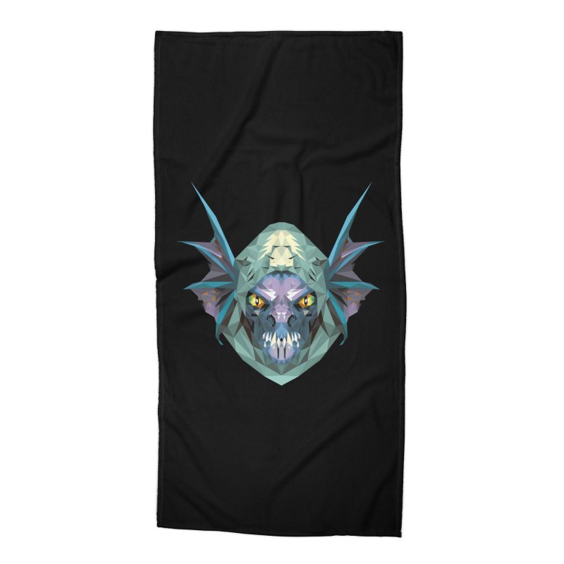 Low Poly Art - Slark Accessories Beach Towel by lowpolyart's Artist Shop