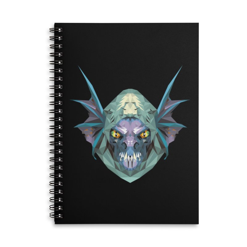 Low Poly Art - Slark Accessories Lined Spiral Notebook by lowpolyart's Artist Shop