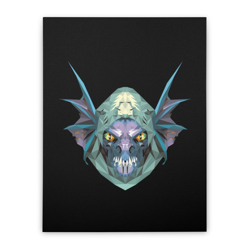 Low Poly Art - Slark Home Stretched Canvas by lowpolyart's Artist Shop