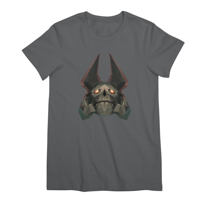 Low Poly Art - Skeleton King Women's T-Shirt by lowpolyart's Artist Shop