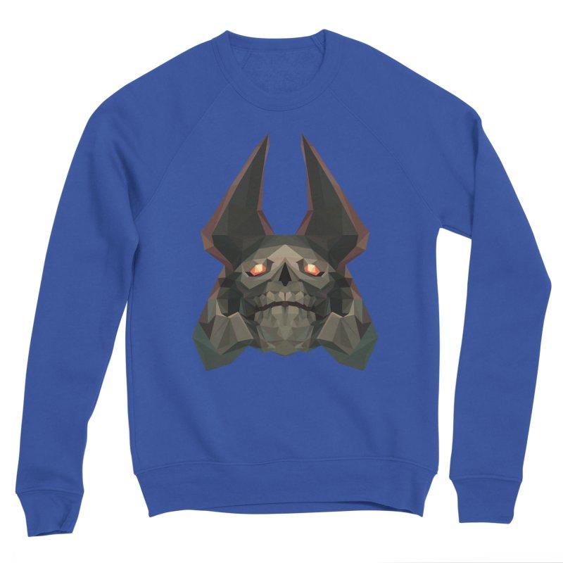 Low Poly Art - Skeleton King Men's Sweatshirt by lowpolyart's Artist Shop