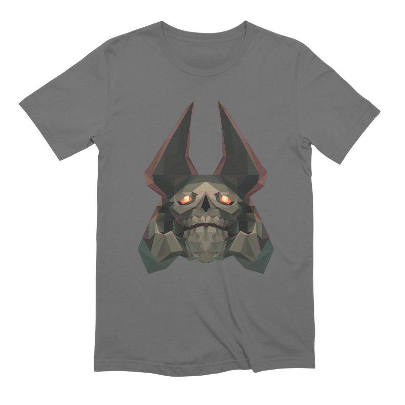 Low Poly Art - Skeleton King Men's T-Shirt by lowpolyart's Artist Shop