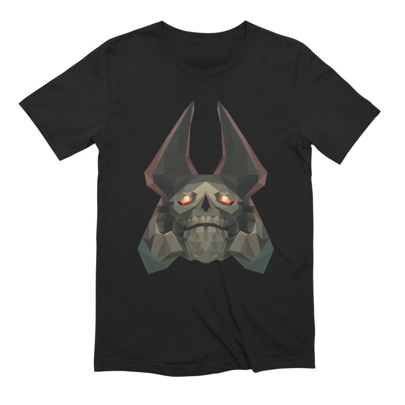 Low Poly Art - Skeleton King in Men's Extra Soft T-Shirt Black by lowpolyart's Artist Shop