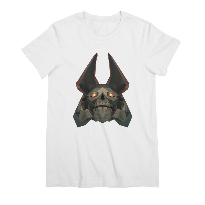 Low Poly Art - Skeleton King Women's Premium T-Shirt by lowpolyart's Artist Shop