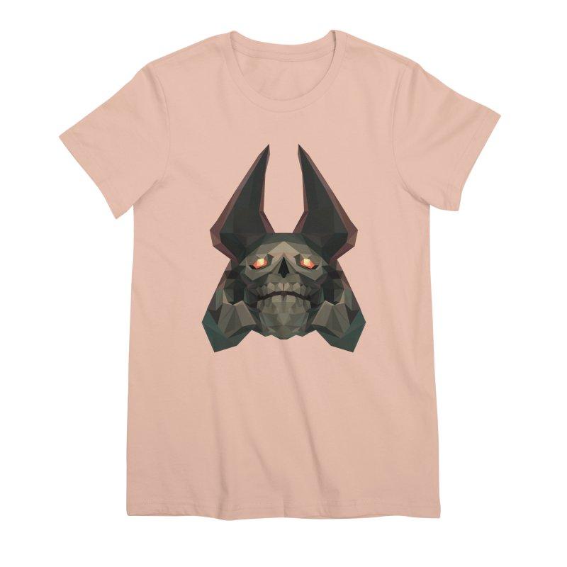 Low Poly Art - Skeleton King Women's T-Shirt by lowpolyart's Artist Shop