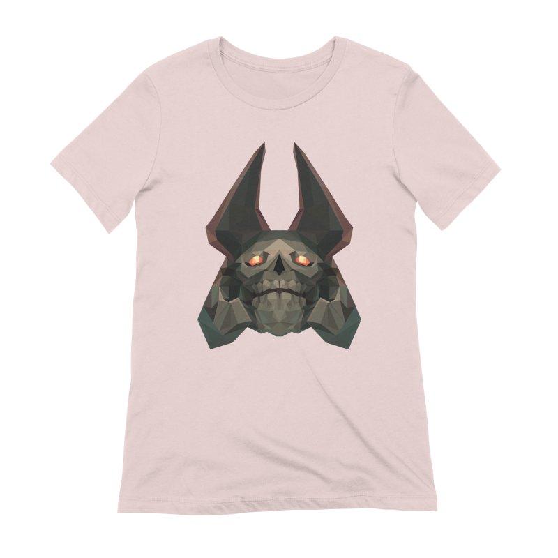 Low Poly Art - Skeleton King Women's Extra Soft T-Shirt by lowpolyart's Artist Shop