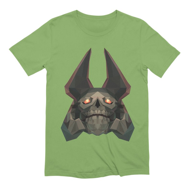 Low Poly Art - Skeleton King Men's Extra Soft T-Shirt by lowpolyart's Artist Shop