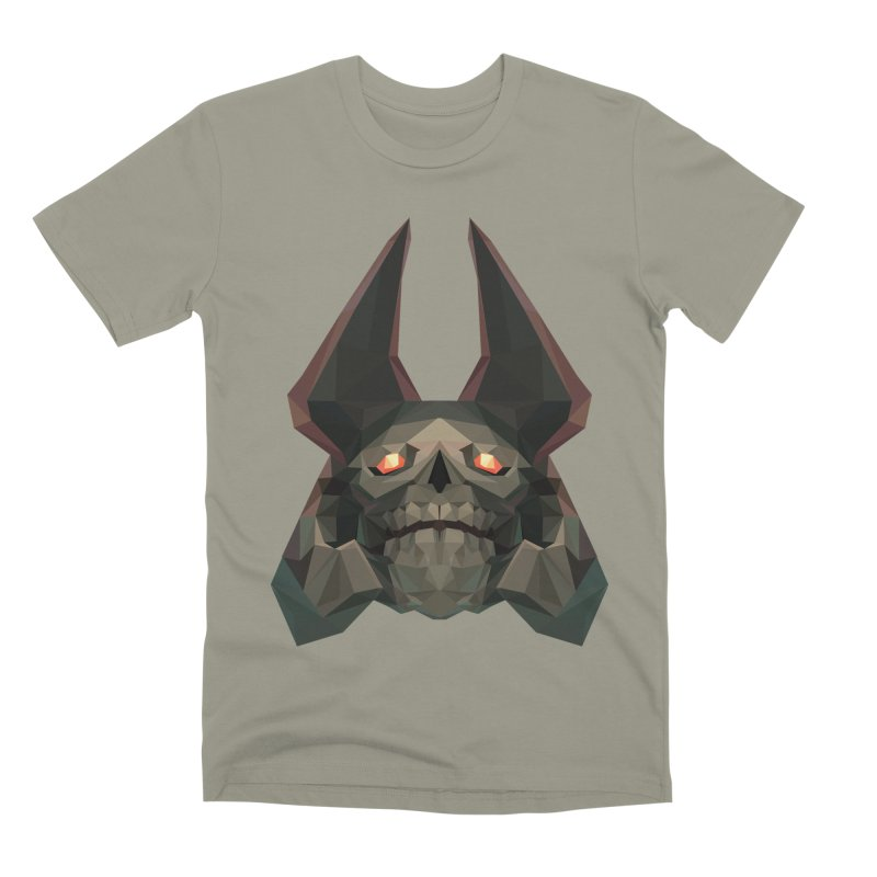 Low Poly Art - Skeleton King Men's Premium T-Shirt by lowpolyart's Artist Shop