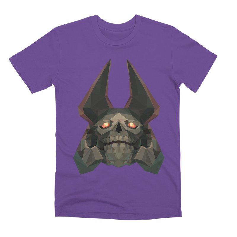 Low Poly Art - Skeleton King Men's Premium T-Shirt by lowpolyart's Artist Shop